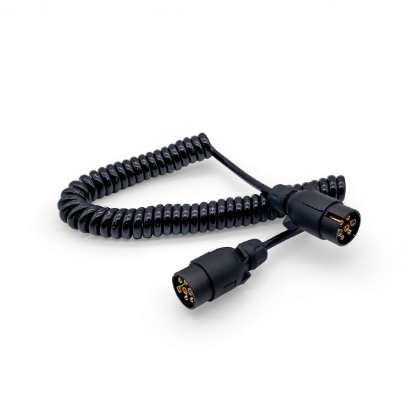 Curly Trailer Extension Lead - 3m - x2 7pin plugs